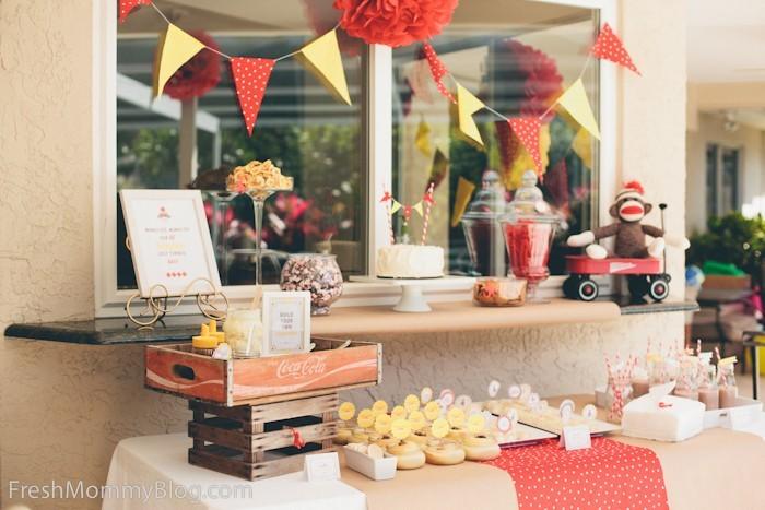 Vintage Sock Monkey Birthday Party Freshmommyblog