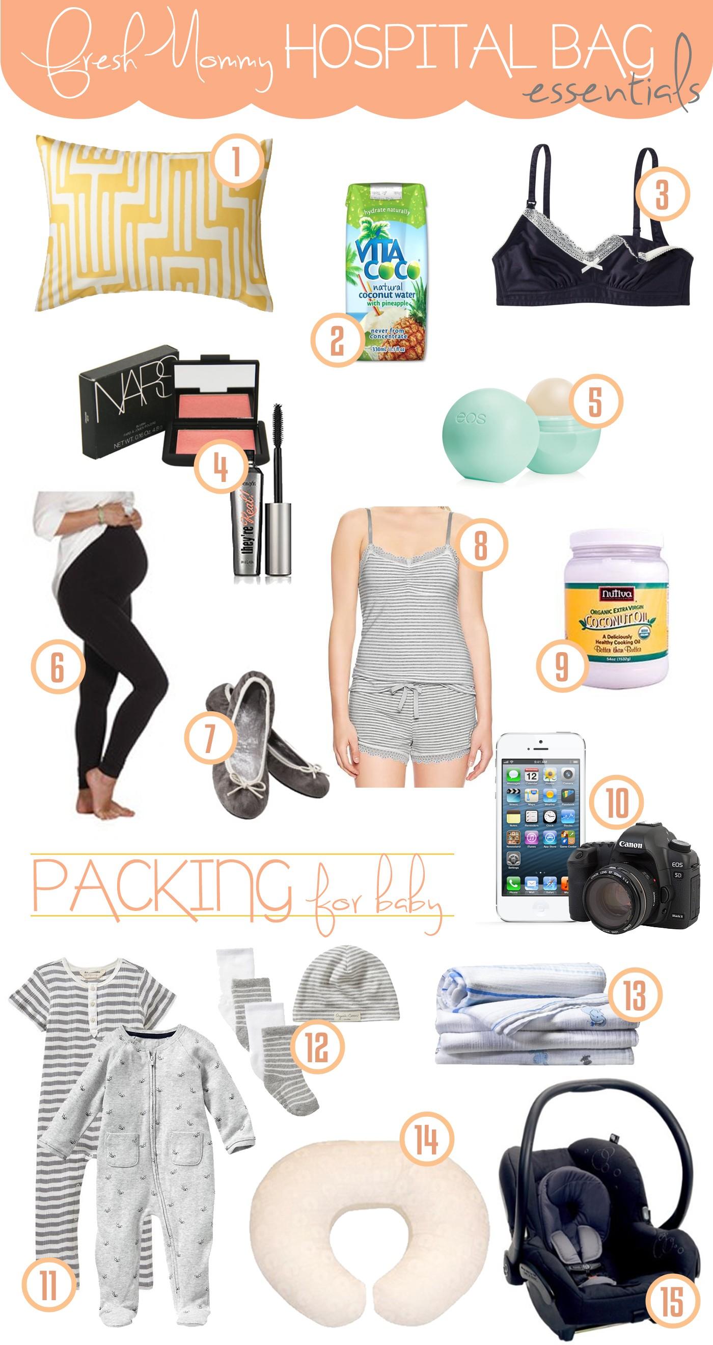 Hospital Bag Essentials - Fresh Mommy Blog : Fresh Mommy Blog