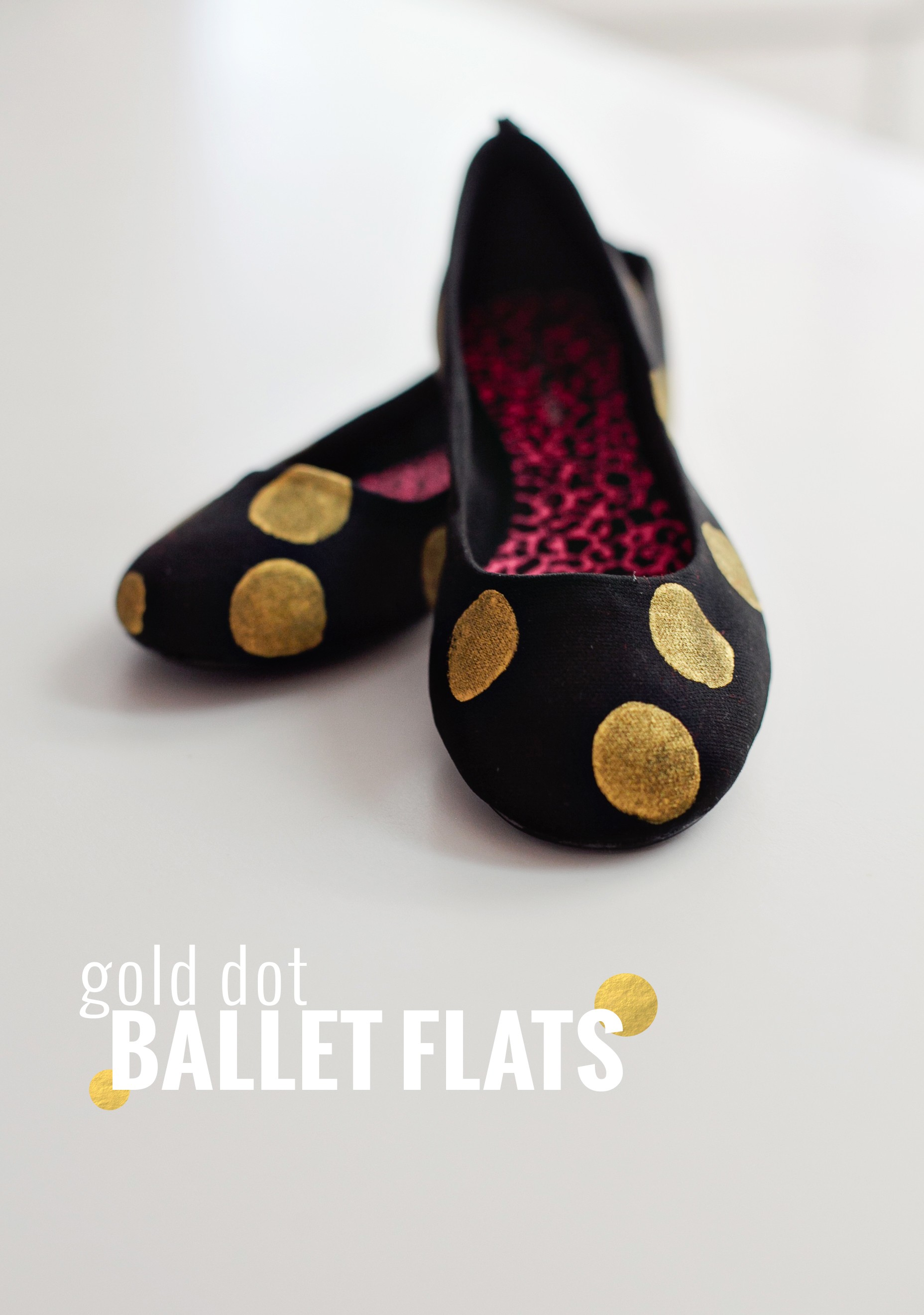 Gold Dot Ballet Flats by Fresh Mommy Blog