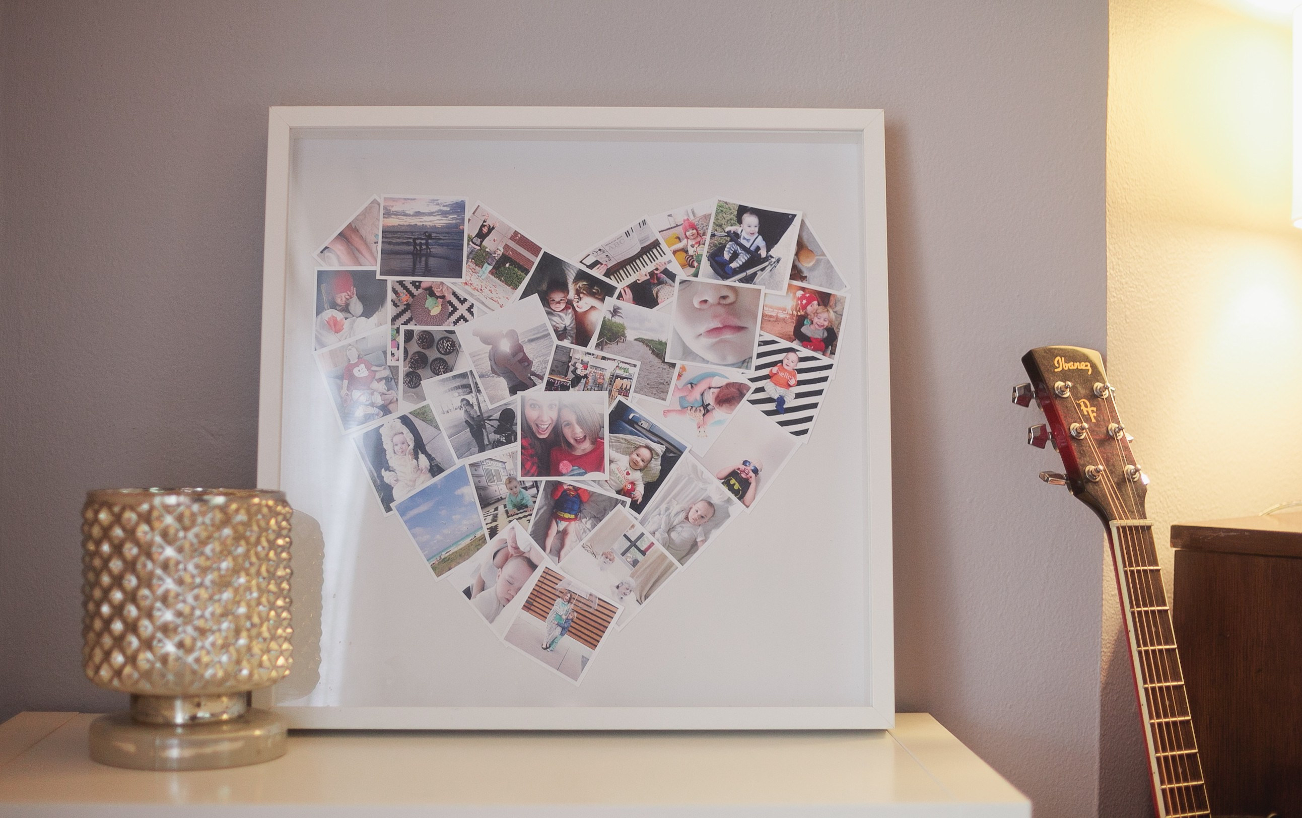 diy      heart mini-photo collage
