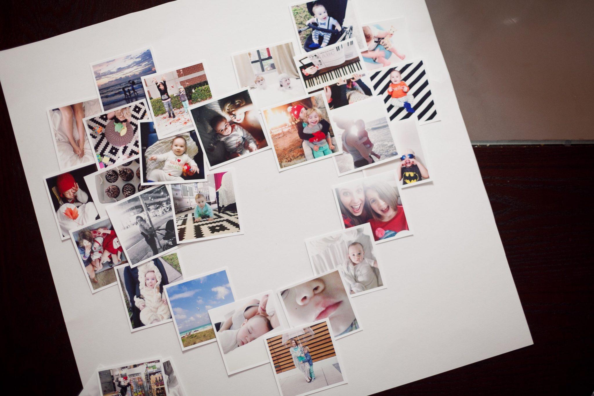 DIY // Heart Mini-Photo Collage - Fresh Mommy Blog : Fresh Mommy Blog
