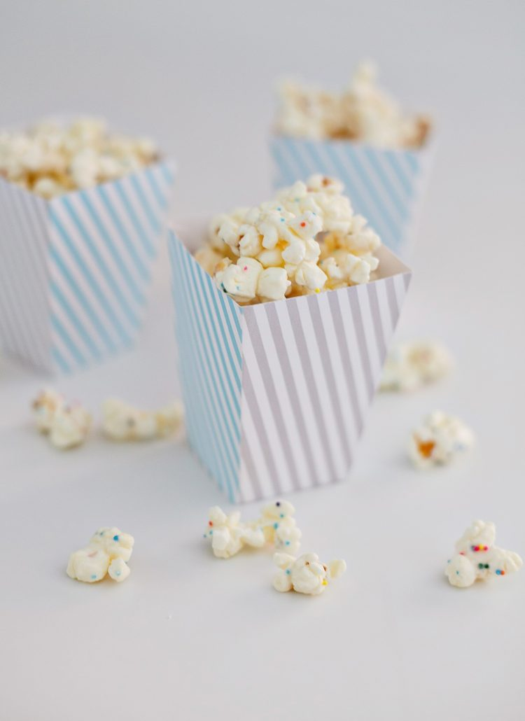 Eats // Confetti Popcorn + Free Popcorn Box Printable