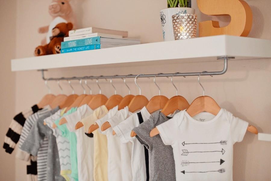DIY Nursery Wardrobe Shelf