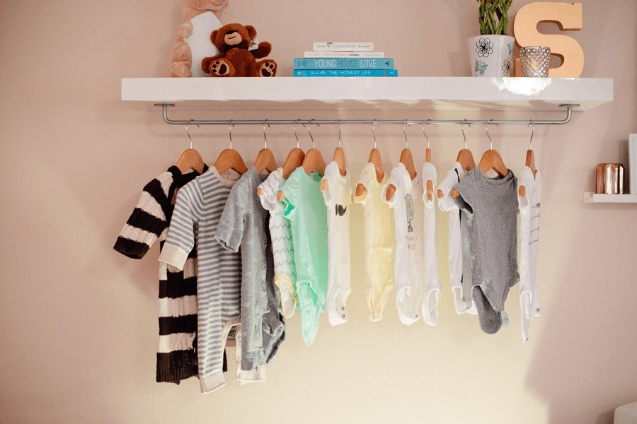 Make // Easy DIY Nursery Wardrobe Shelf - Fresh Mommy Blog : Fresh ...