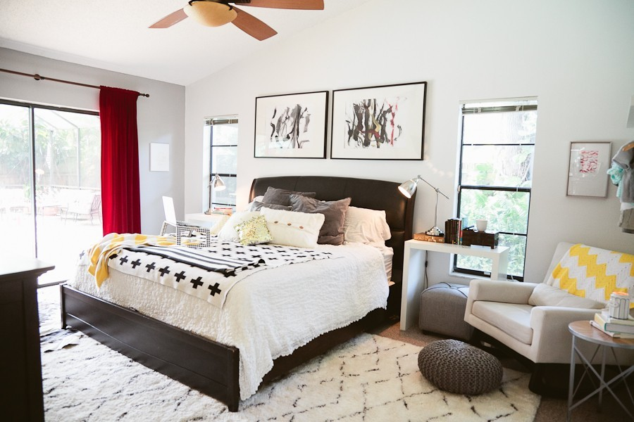 5 Tips to Cozy Up a Rental Space   Bedroom Makeover on Fresh Mommy Blog-1