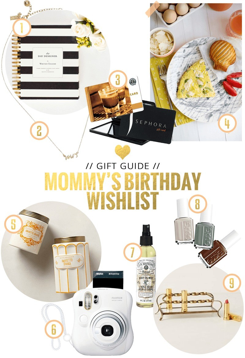 A Mommys Birthday Wishlist