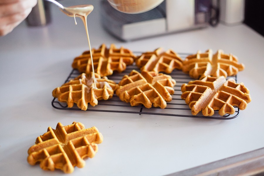 Pumpkin Spice Latte Waffle Doughnut | Fresh Mommy Blog