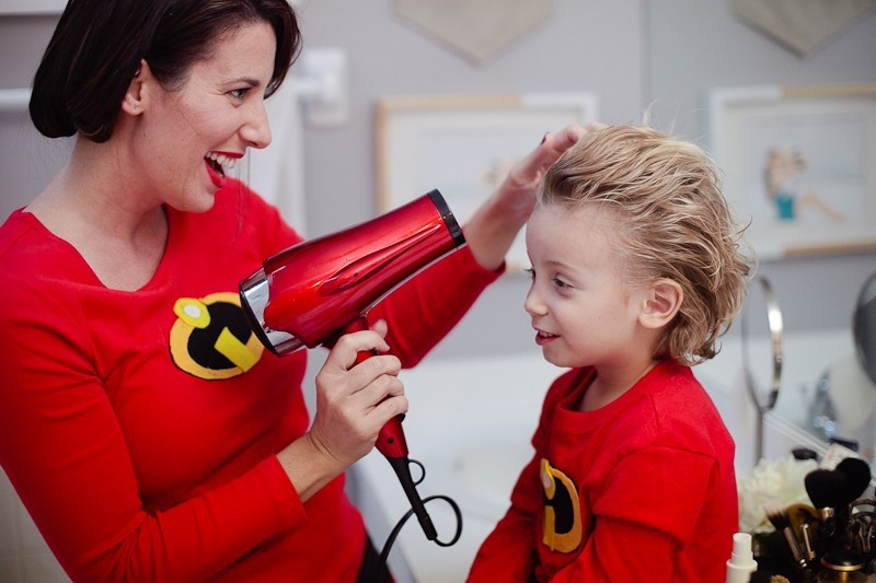 DIY Incredibles Costume | Fresh Mommy Blog-12 - Easy DIY Incredibles Family Costume by popular Florida lifestyle blogger Fresh Mommy Blog