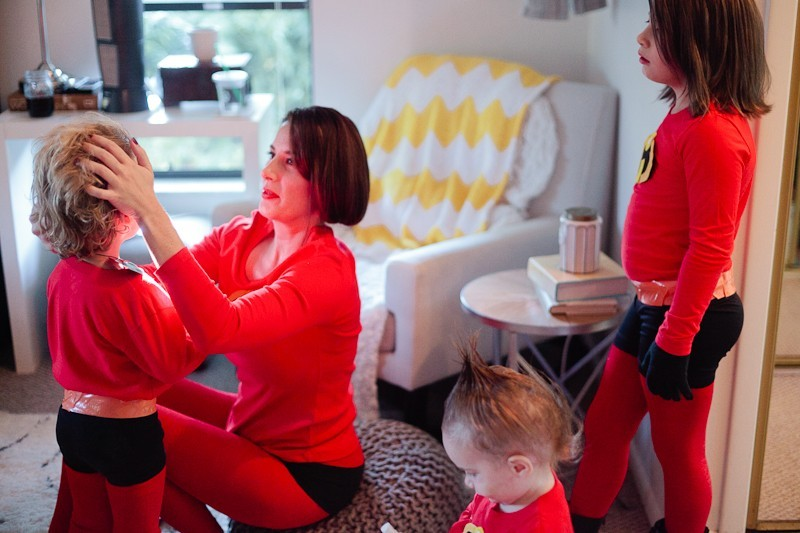 DIY Incredibles Costume | Fresh Mommy Blog-15 - Easy DIY Incredibles Family Costume by popular Florida lifestyle blogger Fresh Mommy Blog