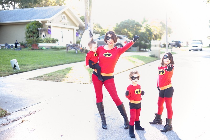 DIY Incredibles Costume | Fresh Mommy Blog-16 - Easy DIY Incredibles Family Costume by popular Florida lifestyle blogger Fresh Mommy Blog