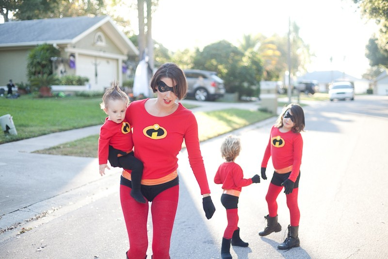 DIY Incredibles Costume | Fresh Mommy Blog-17 - Easy DIY Incredibles Family Costume by popular Florida lifestyle blogger Fresh Mommy Blog