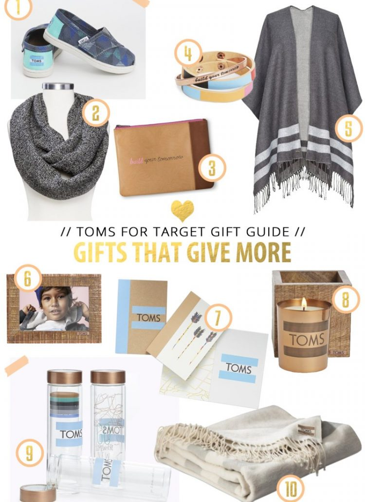 Gift Guide // TOMS for Target Gives More
