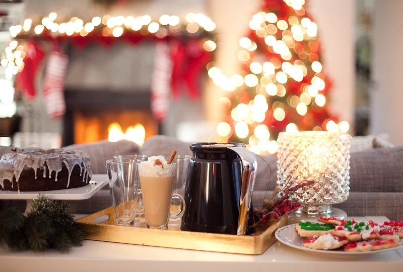 Festive Holiday Dessert and Coffee Bar   A Festive Holiday Dessert and Coffee Bar + The Best Gingerbread Cookie Recipe featured by top Florida foodie blog Fresh Mommy Blog