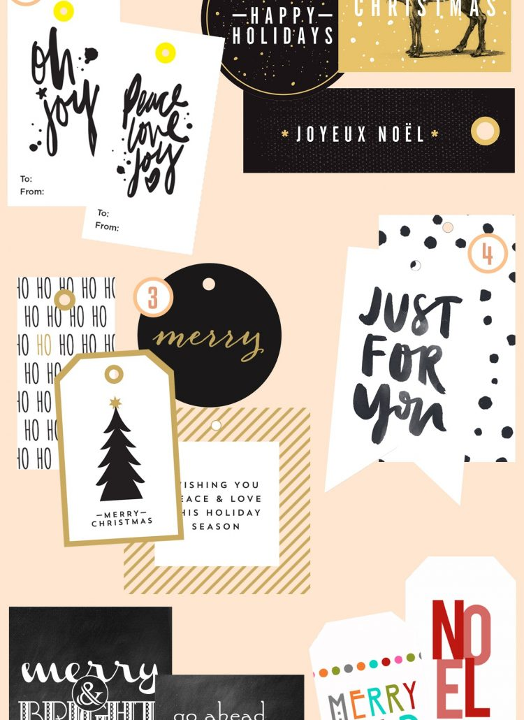 6 Great (and free!) Gift Tags for Christmas