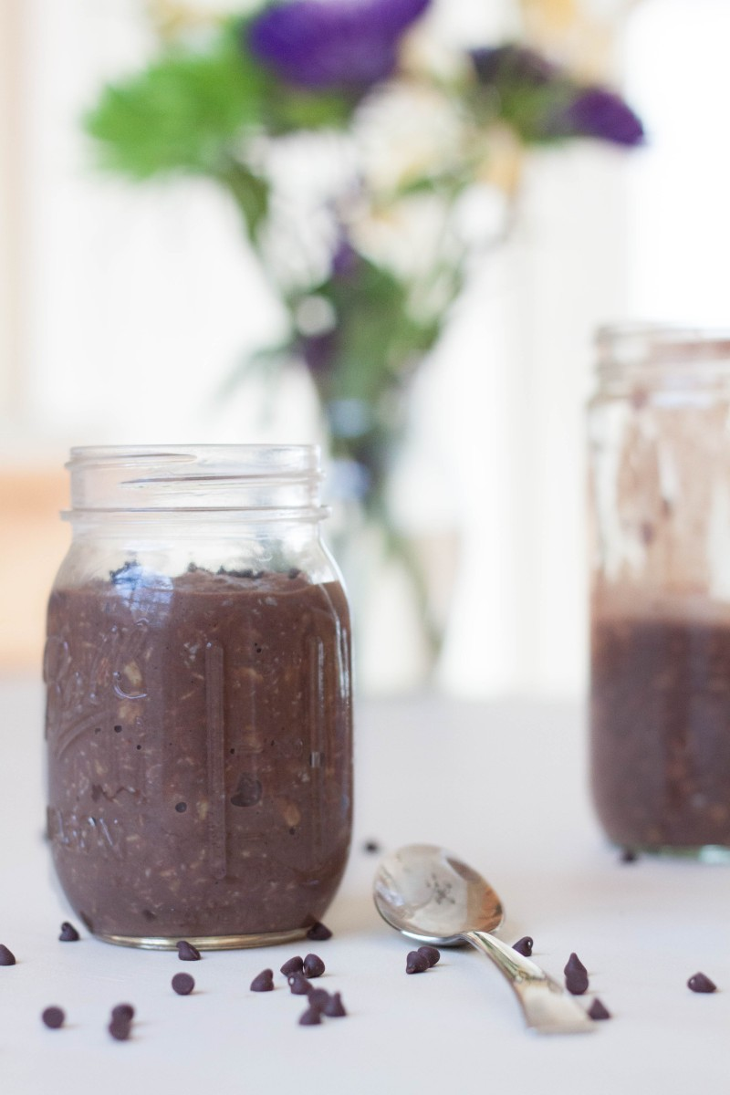 Eats // Gooey Brownie Overnight Oatmeal