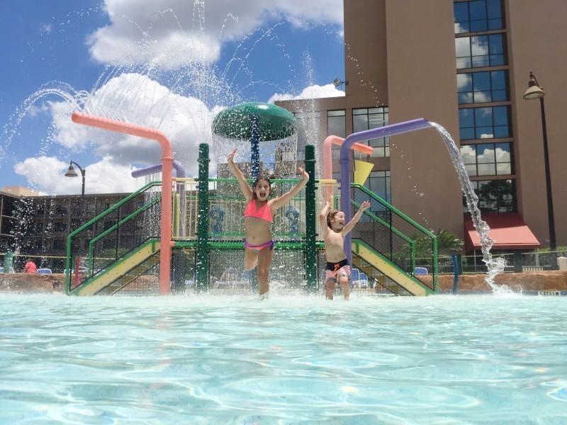 Splash pad fun!