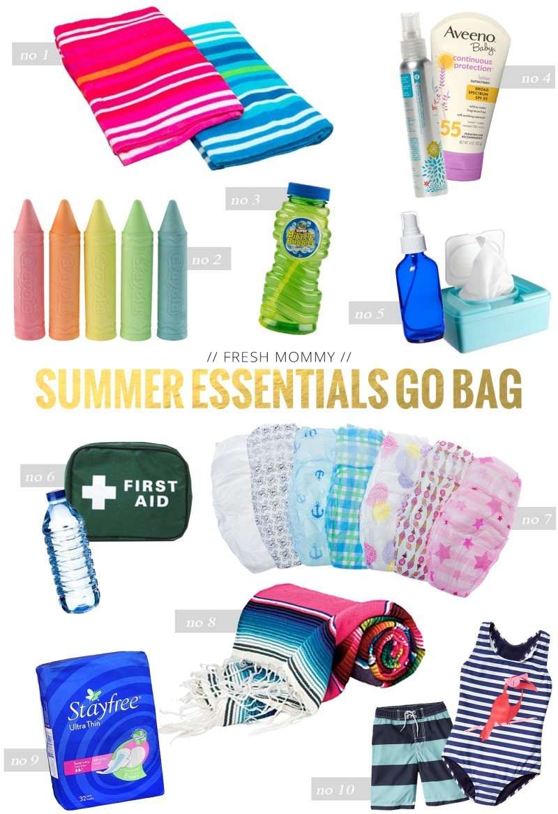 Be prepared for everything on your summer bucket list with a ready to go, Summer Go Bag! #StayfreeSisters for menstration