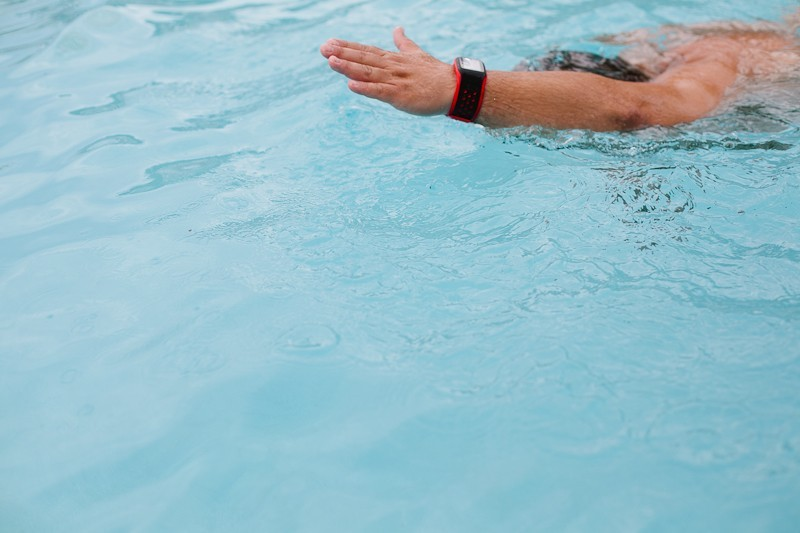 TomTom Multi-Sport GPS watch is waterproof to track swim laps and heartrate