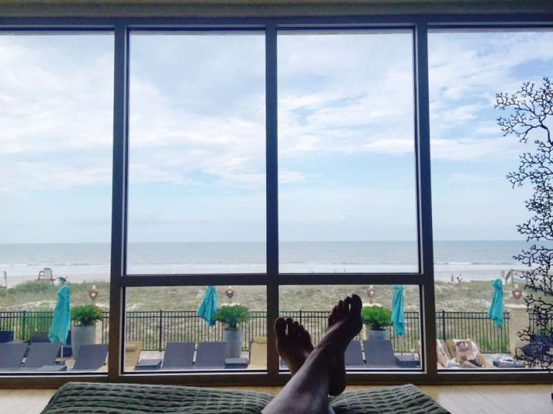 The relaxation room view at The Spa at One Ocean, Atlantic Beach, Florida