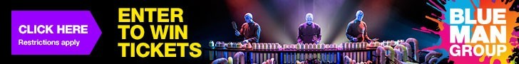 Enter to win a four pack of tickets to the Blue Man Group from Fresh Mommy Blog!