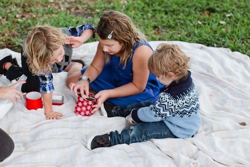 Creating fun and lasting holiday traditions... Christmas cookie picnic with Gymboree