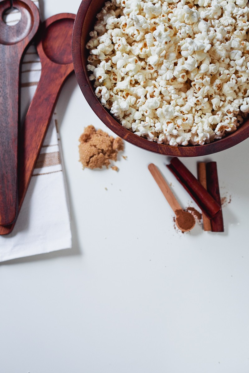 Cinnamon Brown Sugar Popcorn, the perfect low calorie recipe for National Popcorn Day-2