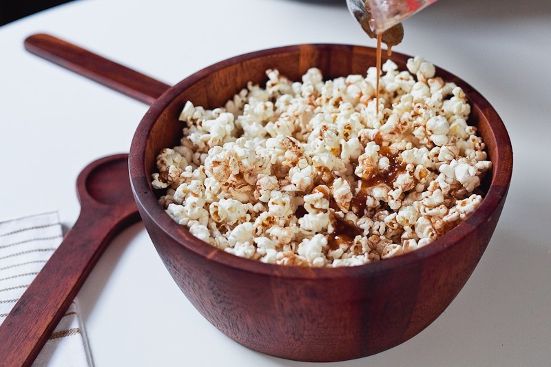 Cinnamon Brown Sugar Popcorn, the perfect low calorie recipe for National Popcorn Day-3