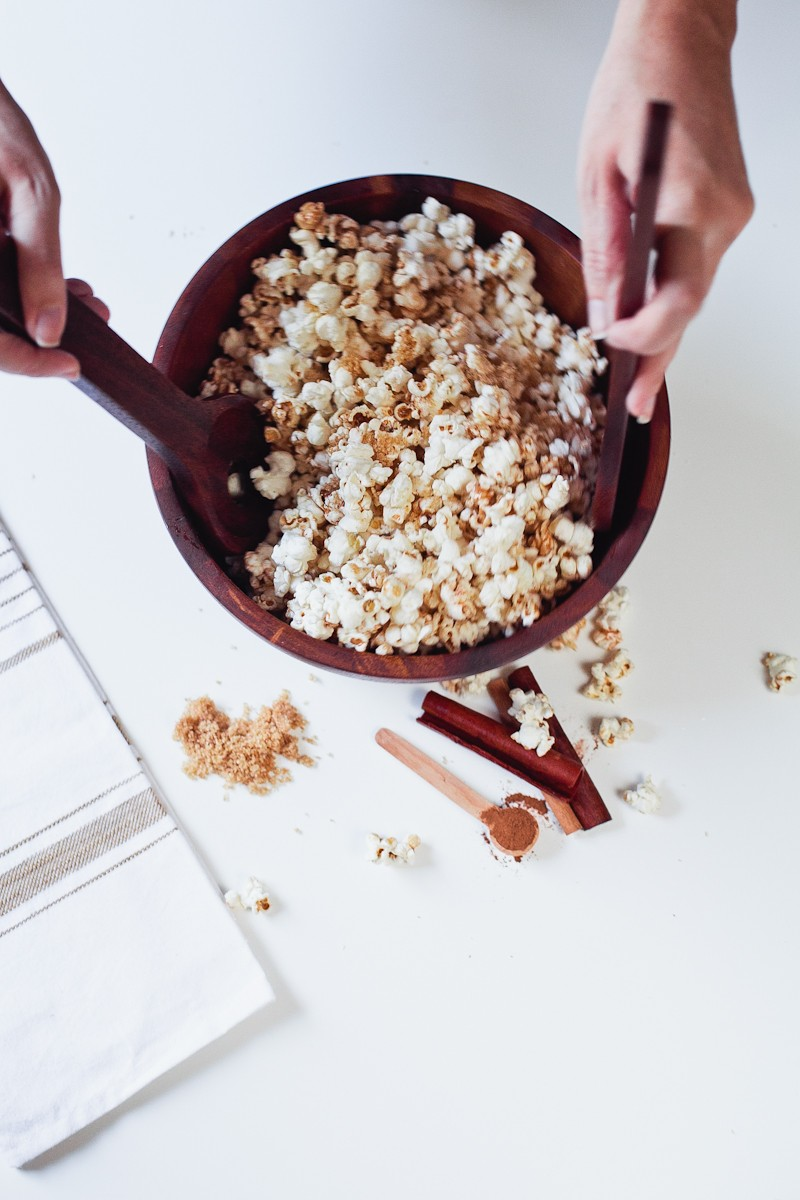 Cinnamon Brown Sugar Popcorn, the perfect low calorie recipe for National Popcorn Day-4
