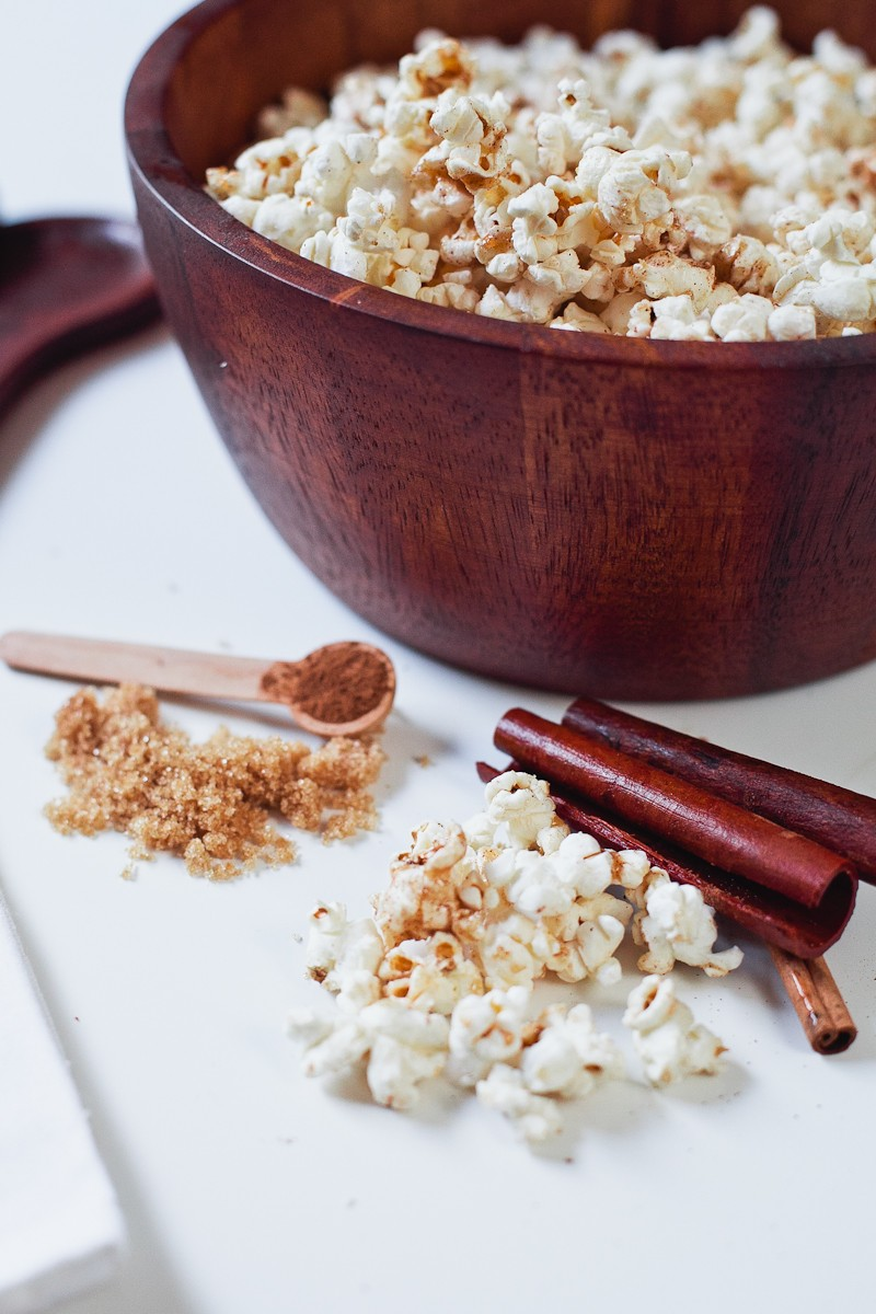 Cinnamon Brown Sugar Popcorn, the perfect low calorie recipe for National Popcorn Day-5
