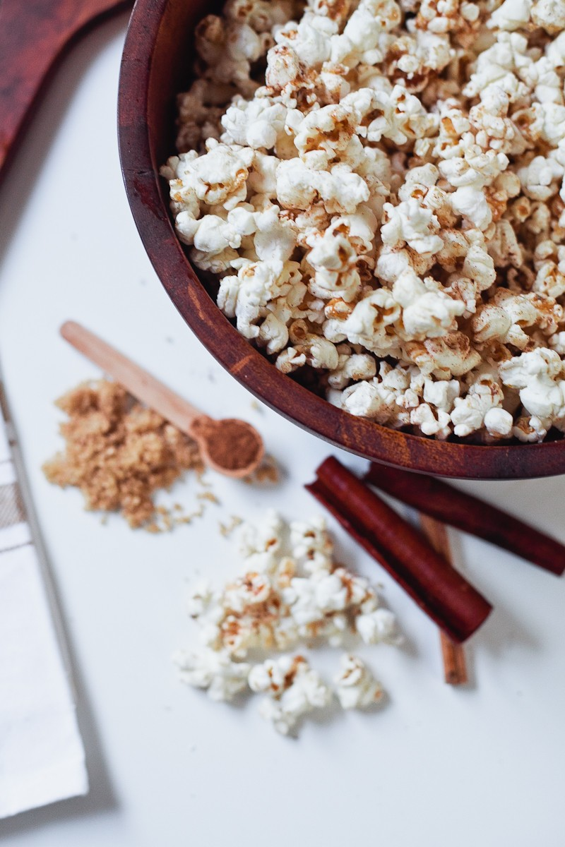 Cinnamon Brown Sugar Popcorn, the perfect low calorie recipe for National Popcorn Day-6