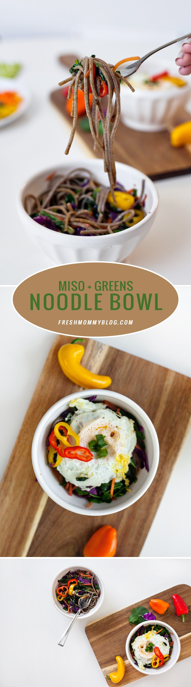Miso and Greens Noodle Bowl