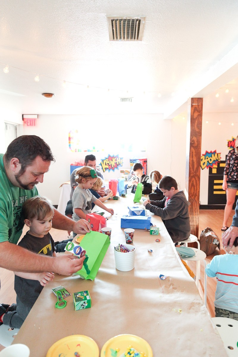 Brayden's Superhero Lego Birthday Party-31