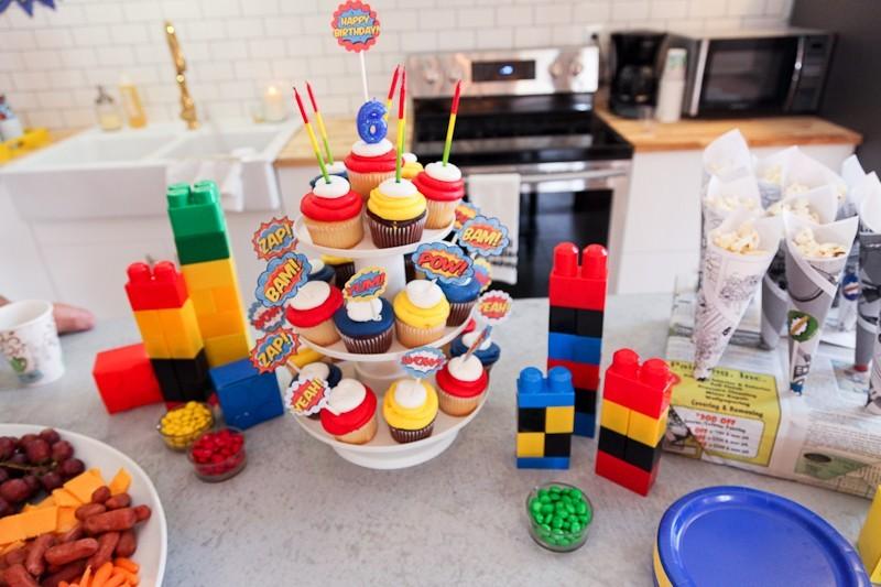 Brayden's Superhero Lego Birthday Party-62