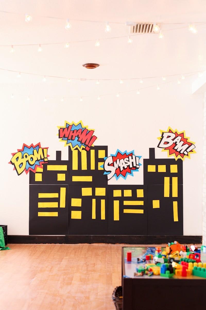 Brayden's Superhero Lego Birthday Party-81