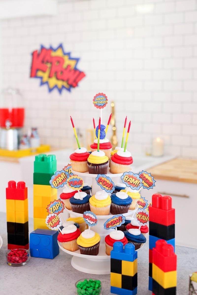 Brayden's Superhero Lego Birthday Party-88