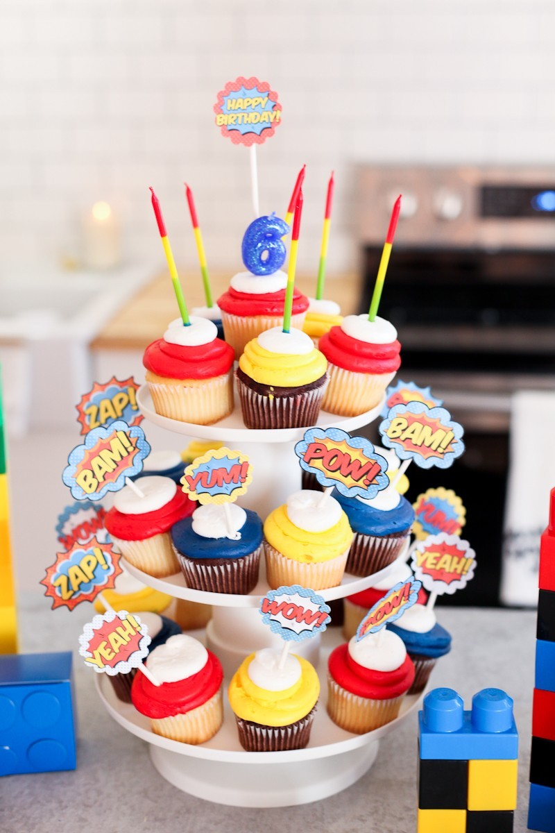 Brayden's Superhero Lego Birthday Party-90
