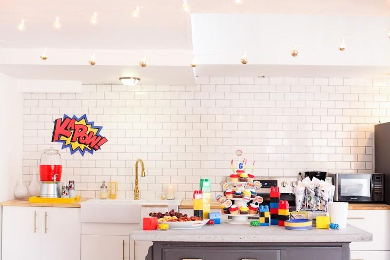 Brayden's Superhero Lego Birthday Party-94