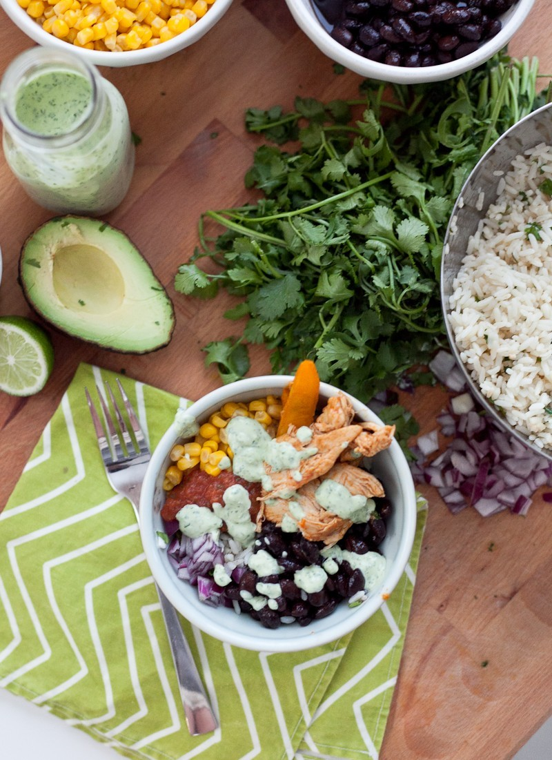 Flavorful Chipolte Chicken Bowl with Cilantro Lime Rice and Avocado Lime Dressing!-10