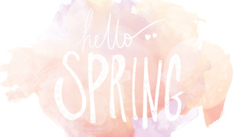 Hello Spring Desktop Background