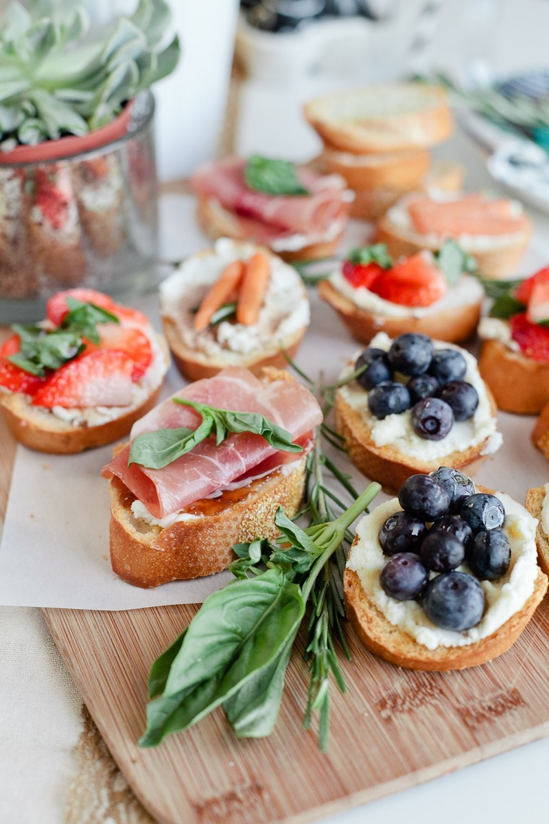 Simply Delicious Easter Crostini Brunch with donuts and Ghiradelli chocolate!-37