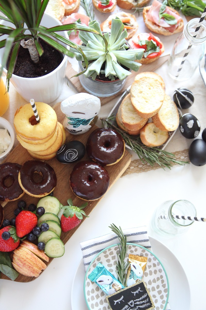 Simply Delicious Easter Crostini Brunch with donuts and Ghiradelli chocolate!-46