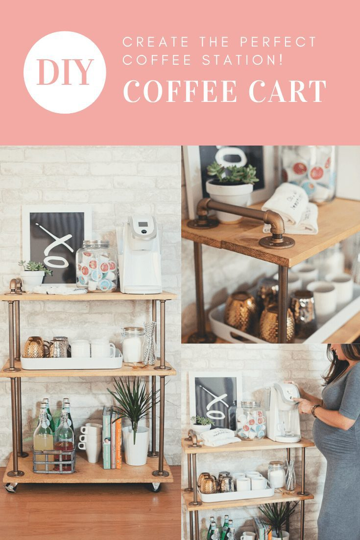 Create the Perfect Coffee Station with a DIY Coffee Cart Bar Cart