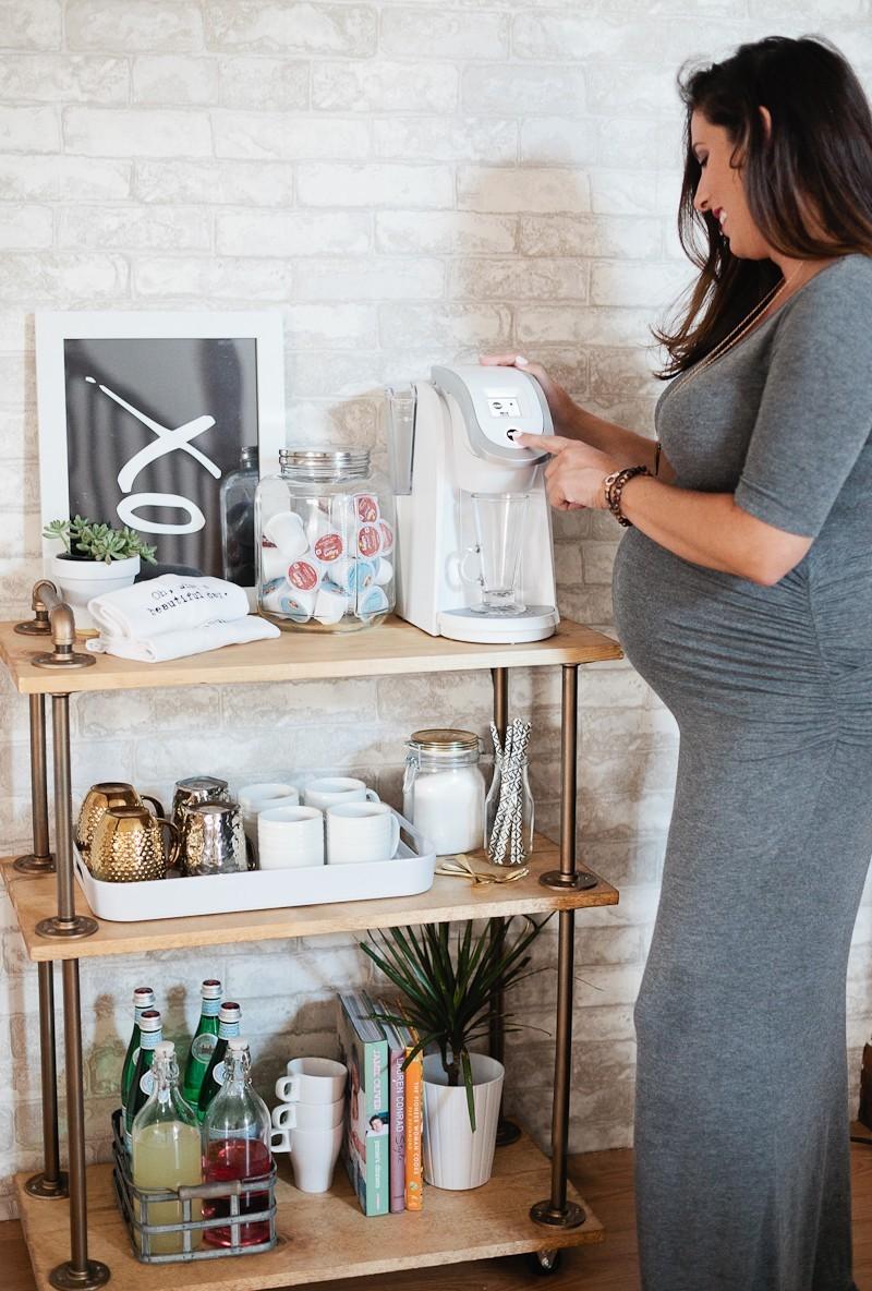 diy coffee bar cart fresh mommy blog fresh mommy blog. Black Bedroom Furniture Sets. Home Design Ideas