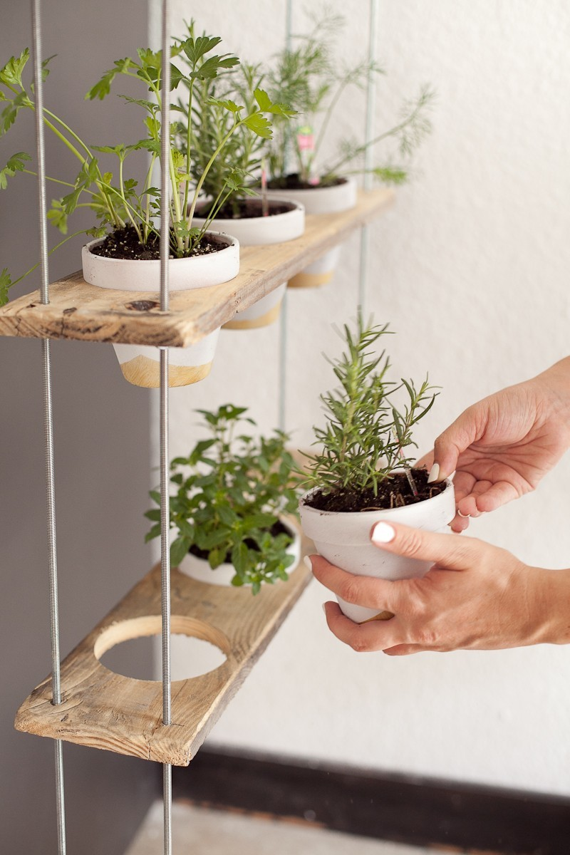 diy hanging herb garden 16 hanging herb garden diy by popular florida lifestyle blogger - Hanging Herb Garden