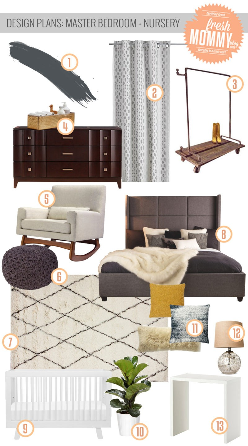 Design Plans- Master Bedroom and Nursery