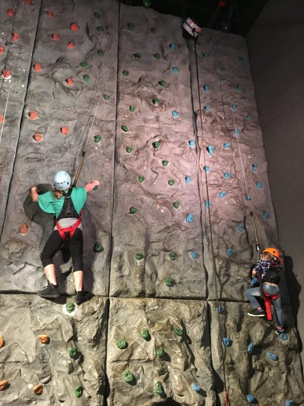 Pigeon Forge Family Fun Vacation Climbing Wall at Wonderworks