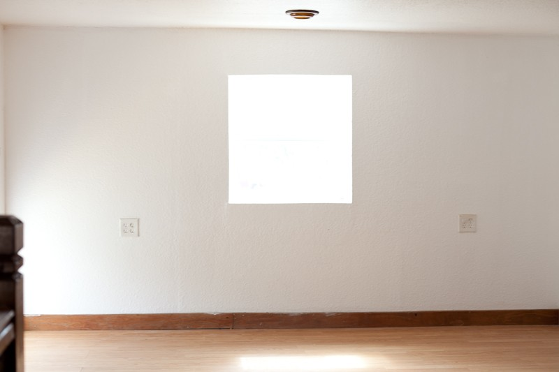 Room Design Inspiration with Valspar Paint | Master Bedroom and Nursery Nook in the Loft. Before Photos.
