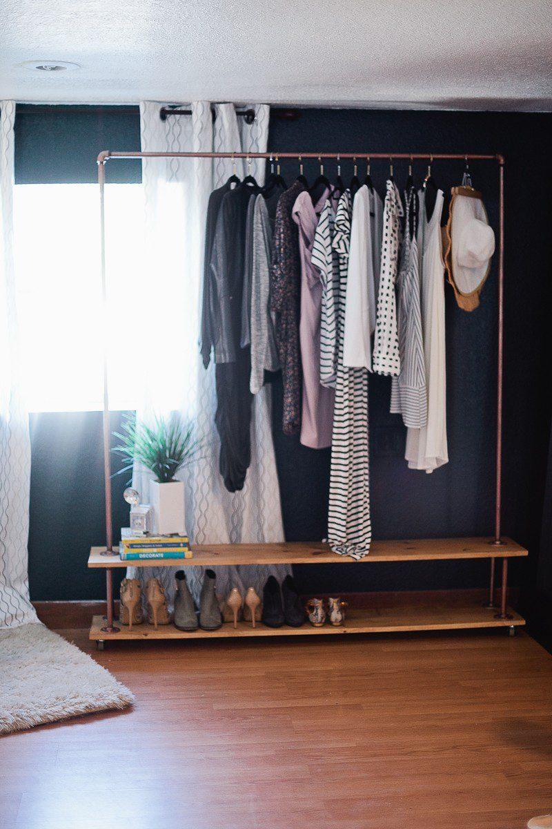 Rolling Diy Garment Rack For Your Wardrobe Fresh Mommy