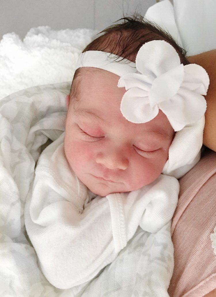 Welcome Baby Aria Lee Blue!