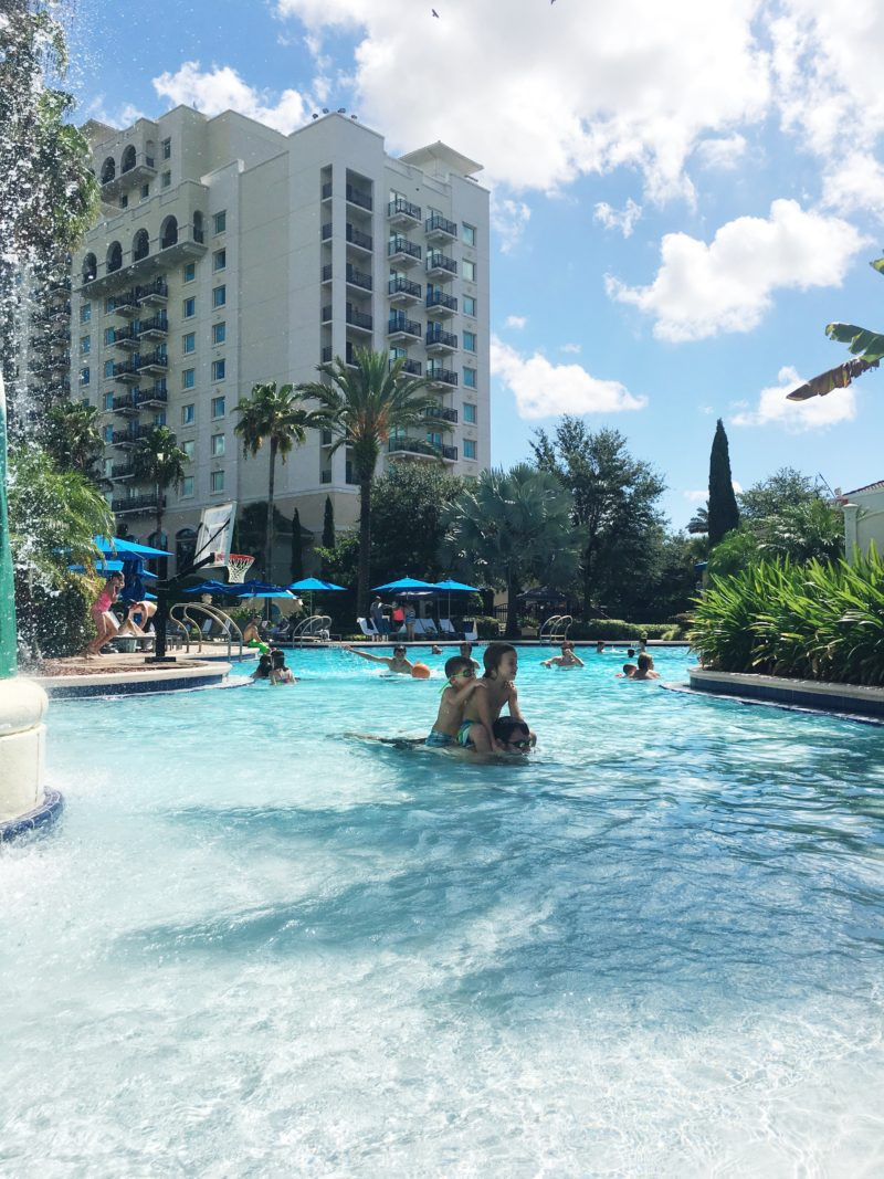 Splash Pad fun at Omni Resort Orlando at Champions Gate